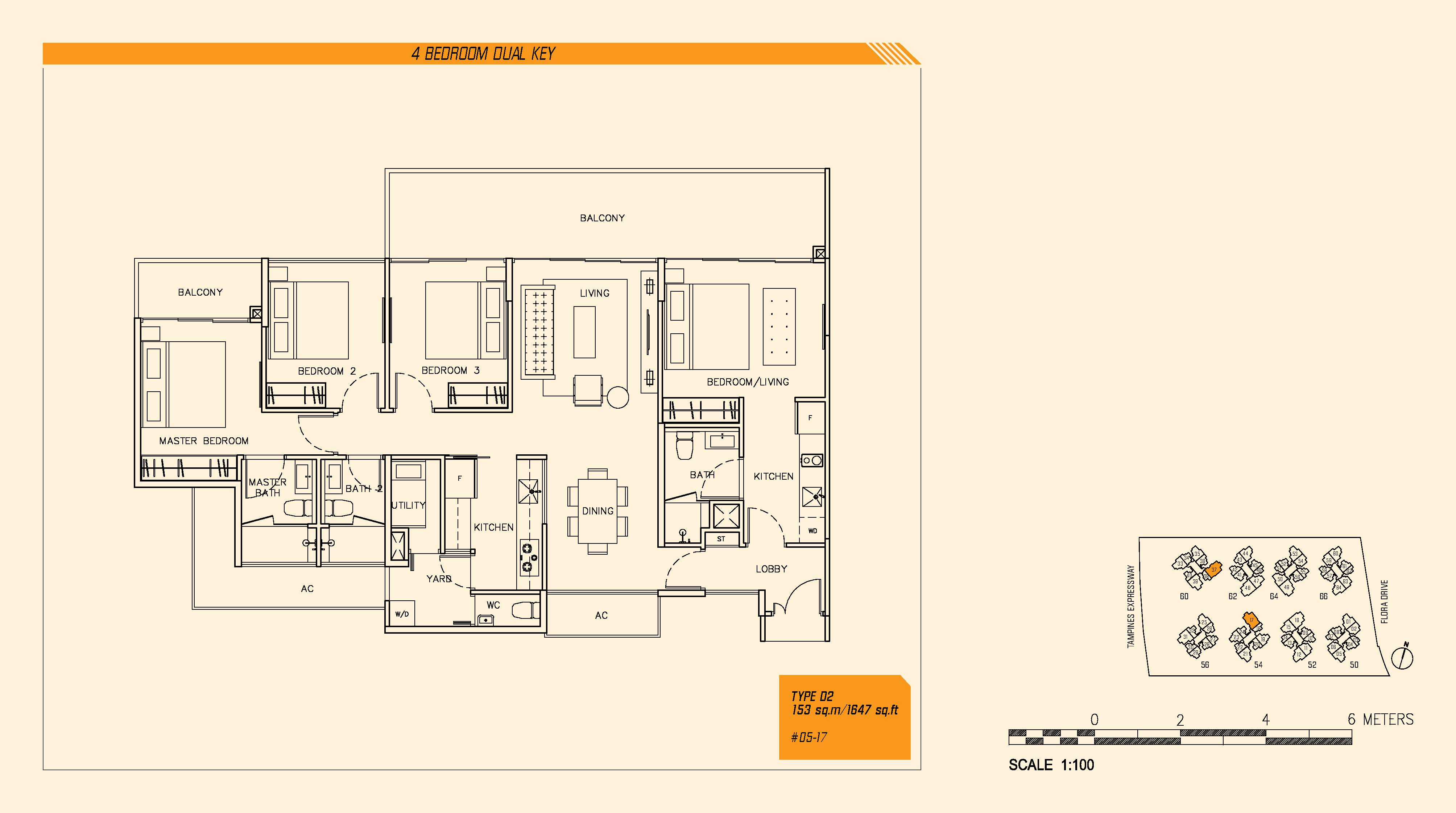 4 Bedroom (DK) - Parc Olympia